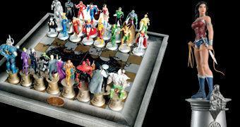 Xadrez Liga da Justiça DC Comics (Eaglemoss)