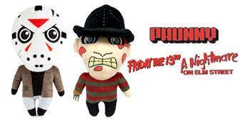 Bonecos de Pelúcia Kidrobot Phunny: Jason Voorhees e Freddy Krueger