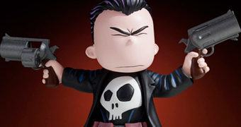 Punisher Animated Statue – Justiceiro em Estilo Super Fofo