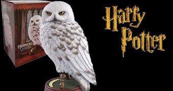 Estátua da Coruja Edwiges de Harry Potter com 24 cm de Altura