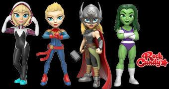 Rock Candy Marvel – Bonecas Funko da Super-Heroínas Marvel