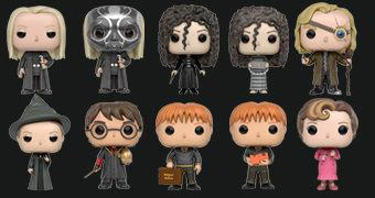 Harry Potter Pop! Série 3: Bellatrix, Lucius Malfoy, Prof. McGonagall, Olho Tonto, Dolores Umbridge, Irmãos Weasley e Harry