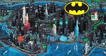 Quebra-Cabeça 4D Batman Gotham City Puzzle