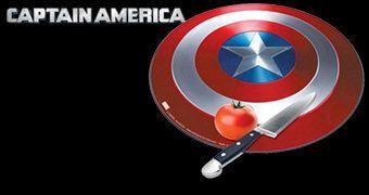 Tábua de Cortar Escudo do Capitão América