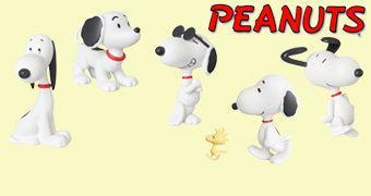 Bonecos Snoopy UDF Medicom de 1953 a 1997
