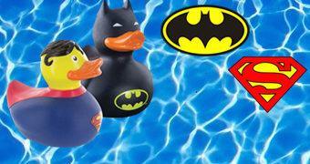Super Patinhos de Borracha DC: Pato Batman e Pato Superman