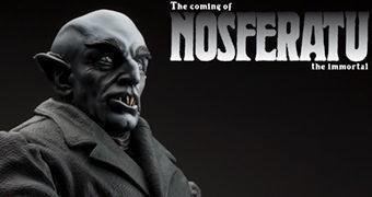 Estátua The Coming of Nosferatu com Max Schreck como o Vampiro Conde Orlok