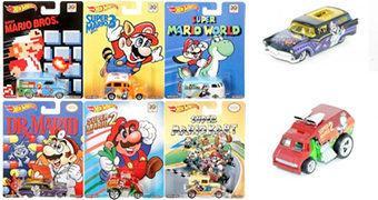 Carrinhos Super Mario Hot Wheels 1:64