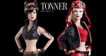 Bonecas Motociclistas Tonner Doll Gotham Garage: Catwoman e Harley Quinn
