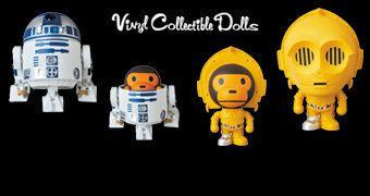 R2-D2 VCD e C-3PO VCD – Star Wars X A Bathing Ape X Medicom