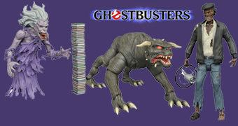 "Action Figures Ghostbusters Movie Select 7"" Séries 5: Library Ghost, Taxi Driver Zombie e Terror Dog"