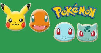 Cortadores de Cookies Pokémon: Bulbasaur, Squirtle, Charmander e Pikachu!