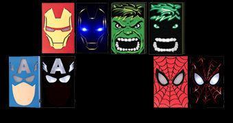 Caixas Luminárias Marvel