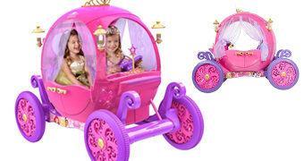 Carruagem Princesa Disney – Carro Elétrico para 2 Crianças