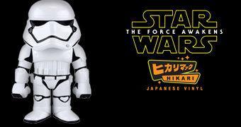 First Order Stormtrooper Hikari Sofubi – Boneco Funko Star Wars em Estilo Japonês