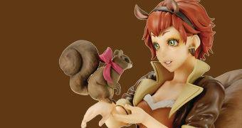 Estátua Garota Esquilo (Squirrel Girl) Estilo Bishoujo – Ilustração de Shunya Yamashita