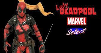 "Lady Deadpool Marvel Select Action Figure em Escala 7"""