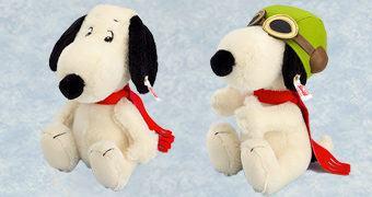Boneco de Pelúcia Steiff Peanuts: Snoopy Ás Voador da 1º Guerra Mundial