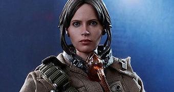Jyn Erso (Felicity Jones) em Star Wars Rogue One – Action Figure Perfeita Hot Toys