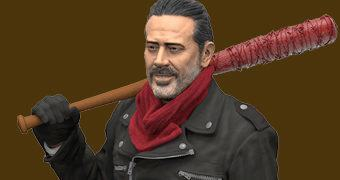 "Jeffrey Dean Morgan como Negan em The Walking Dead – Figura 7"" McFarlane Toys"