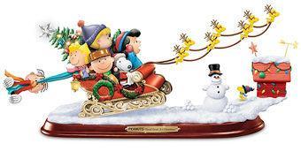 Escultura Musical de Natal Peanuts: Trenó Natalino