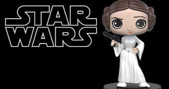 Boneca Bobble Head Princesa Leia Funko Wobblers