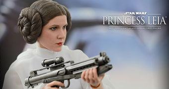 Princesa Leia (Carrie Fisher) em Star Wars Episódio IV – Action Figure Perfeita Hot Toys Star Wars