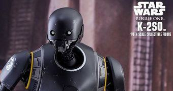 K-2SO (Alan Tudyk) em Star Wars Rogue One – Action Figure Perfeita Hot Toys