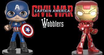 Capitão América e Homem de Ferro Wobblers – Bonecos Bobble Heads da Funko