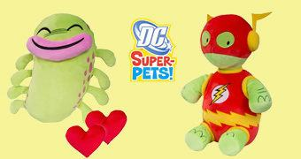 Super Bichos de Pelúcia DC Comics: Whatzit (Flash) e Silky (Teen Titans)