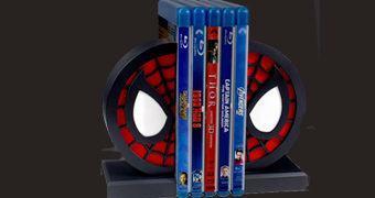 Spider-Man Logo Bookends – Apoio de Livros do Homem-Aranha