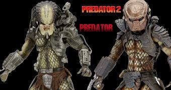 "Action Figures 7"" Predator: Ultimate Jungle Hunter (1987) e Ultimate City Hunter (1990)"