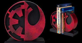 Apoio de Livros Star Wars: Imperial and Rebel Seal Bookends