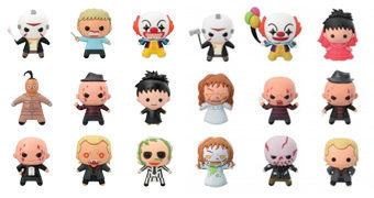 Chaveiros 3D Monogram Figural Keyrings Horror: Jason, Freddy, Beetlejuice, Pennywise e Reagan