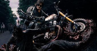 Estátua The Walking Dead McFarlane Toys: Daryl Dixon e Motocicleta