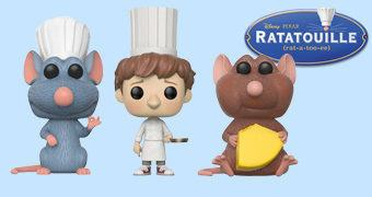 Bonecos Pop! do Filme Ratatouille (Pixar)