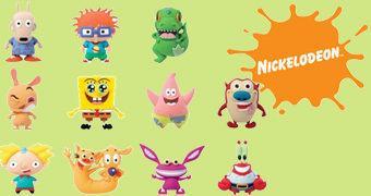 "Chaveiros ""Clássicos da Nickelodeon"" 3D Monogram Figural Keyrings"