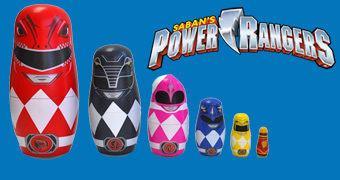 Bonecas Russas Matryoshkas: Power Rangers!