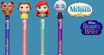 Canetas Funko Pop! Pen Disney: A Bela e a Fera e A Pequena Sereia