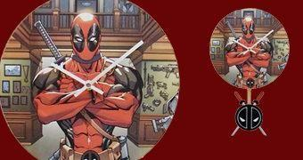 Deadpool Relógio de Parede com Pêndulo