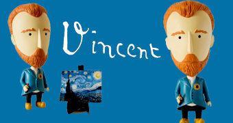 Vincent Van Gogh Action Figure com Orelha Removível
