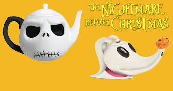Bules de Chá Nightmare Before Christmas: Jack Skellington e Zero