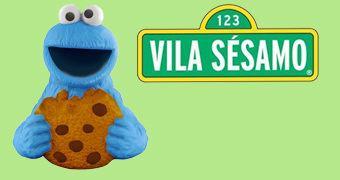 Pote de Cookies Vila Sésamo Monstro Come-Come