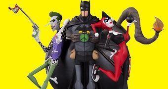 Apoio de Livros Batman, Joker e Harley Bookends