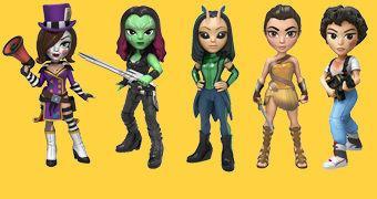 Bonecas Funko Rock Candy: Guardiões da Galáxia Vol. 2, Wonder Woman Movie, Borderlands e Aliens