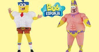 Fantasias Infláveis Bob Esponja Calça Quadrada e Patrick (Carnaval 2017)