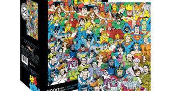 Quebra-Cabeça Super-Heróis e Super-Vilões DC Comics com 3.000 Peças