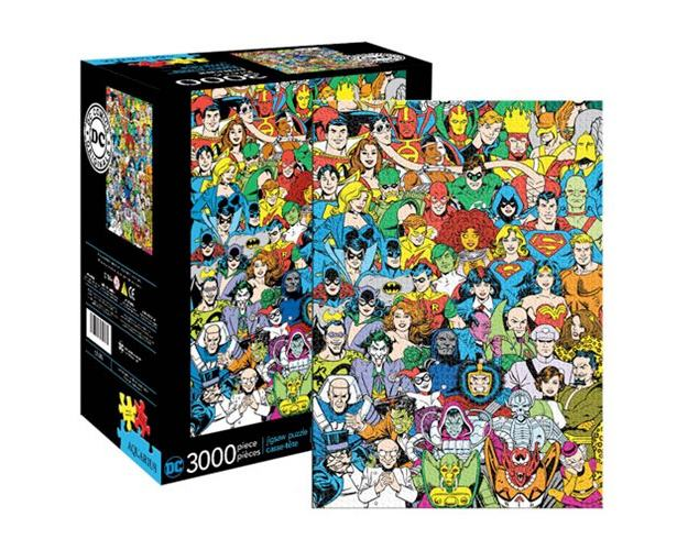 Quebra-Cabeca-DC-Comics-Hero-and-Villain-Line-Up-3000-Piece-Puzzle=01