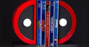 Deadpool Logo Bookends (Apoio de Livros)