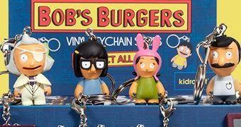 Bob's Burgers Chaveiros com Mini-Figuras Kidrobot